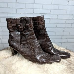 SALE!! Faux Alligator Skin Ankle boots